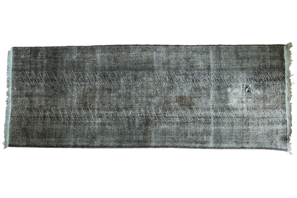 4.5x12.5 Vintage Overdyed Distressed Gallery Rug Runner - Old New House