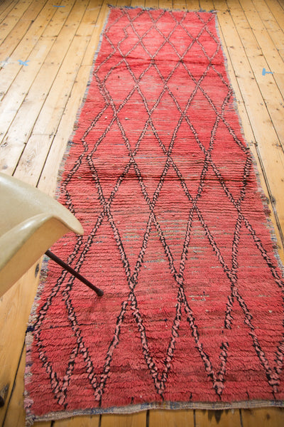 3x11 Vintage Moroccan Distressed Rug Runner - Old New House