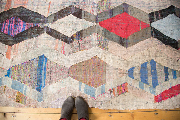 5x10.5 Vintage Rag Rug Runner - Old New House