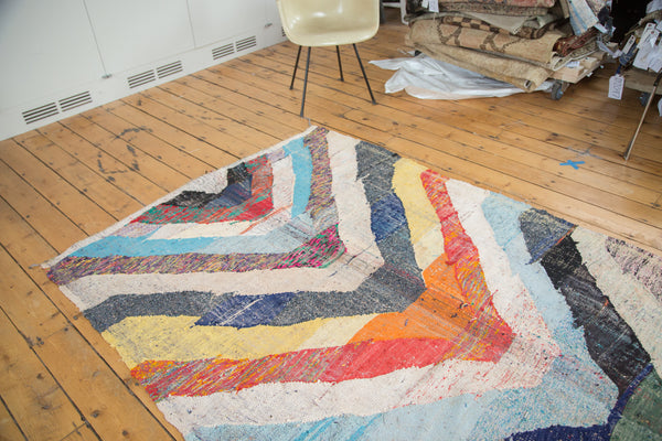 5x9 Vintage Rag Rug Carpet - Old New House