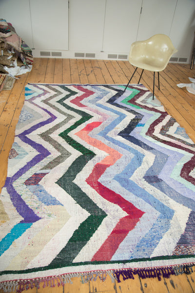 6x9.5 Vintage Rag Rug Carpet - Old New House
