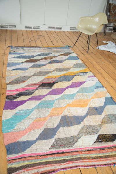 5x9.5 Vintage Rag Rug Carpet - Old New House