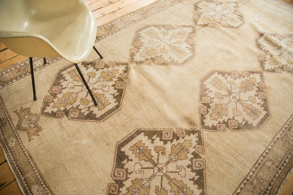 6.5x11 Vintage Oushak Distressed Carpet - Old New House