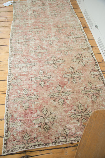 3.5x8 Vintage Oushak Distressed Rug Runner - Old New House