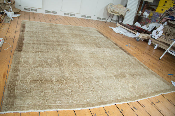 Vintage Oushak Distressed Carpet / Item ee002137 image 2