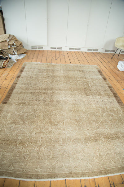 Vintage Oushak Distressed Carpet / Item ee002137 image 8