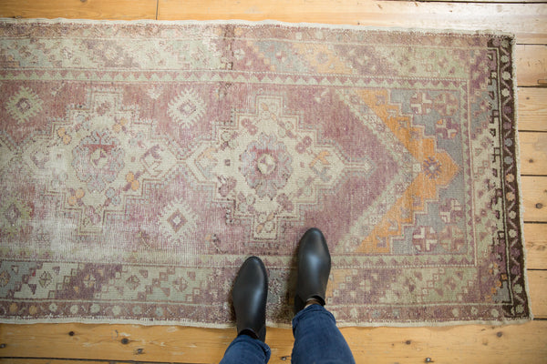 Vintage Oushak Distressed Rug Runner / Item ee002140 image 10
