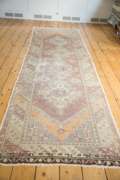 Vintage Oushak Distressed Rug Runner / Item ee002140 image 9