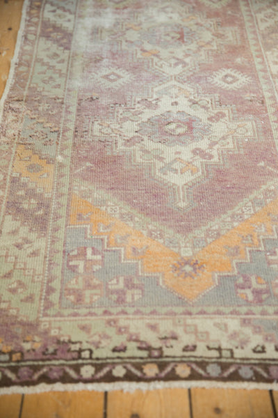 Vintage Oushak Distressed Rug Runner / Item ee002140 image 8