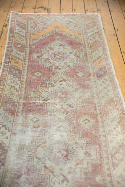 Vintage Oushak Distressed Rug Runner / Item ee002140 image 7
