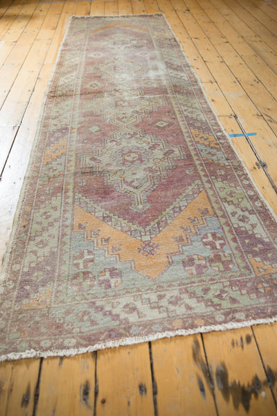 Vintage Oushak Distressed Rug Runner / Item ee002140 image 5