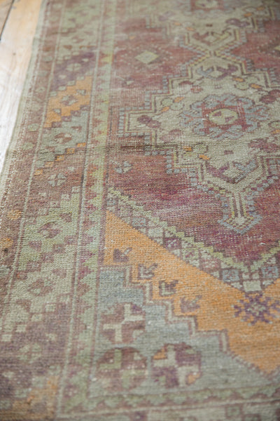 Vintage Oushak Distressed Rug Runner / Item ee002140 image 4