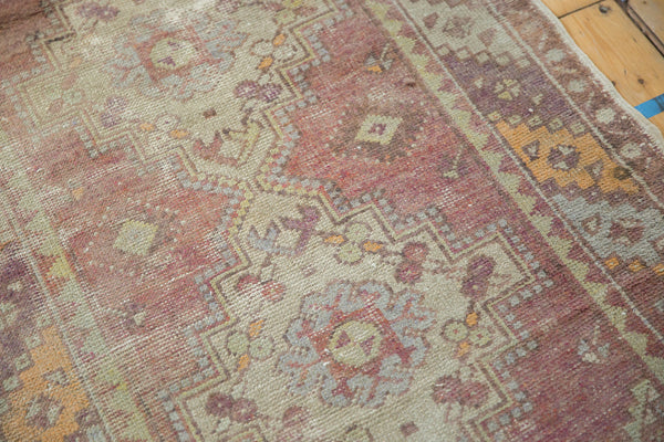 Vintage Oushak Distressed Rug Runner / Item ee002140 image 2