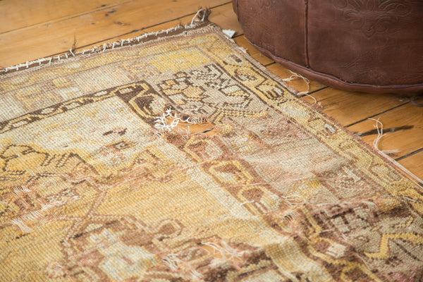 3.5x5.5 Vintage Tattered Oushak Distressed Rug - Old New House
