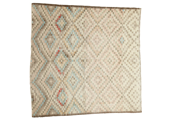 5.5x5.5 Vintage Oushak Distressed Square Rug - Old New House