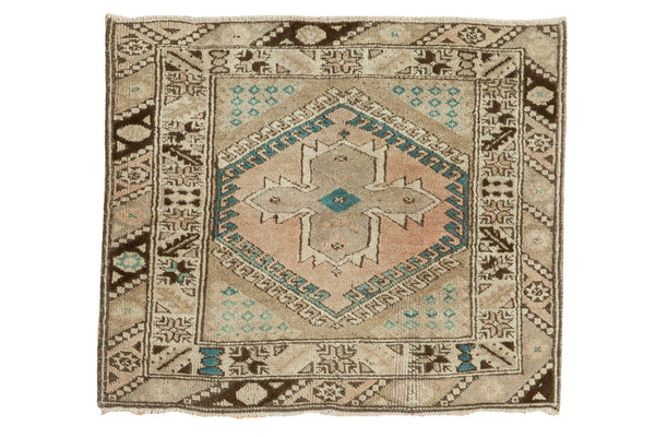 3x3 Vintage Oushak Square Rug - Old New House
