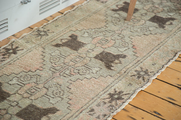 2.5x7.5 Vintage Oushak Distressed Rug Runner - Old New House
