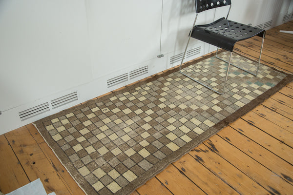 3x7 Vintage Oushak Distressed Rug Runner - Old New House