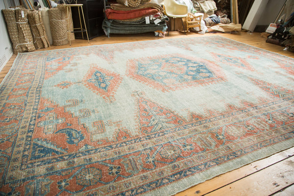 10.5x13.5 Vintage Oushak Distressed Carpet - Old New House