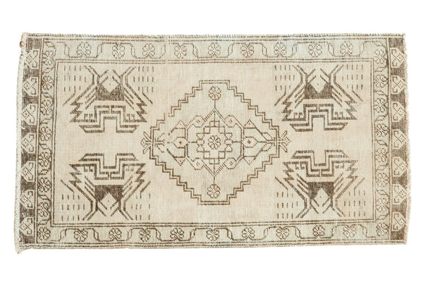 2x3.5 Vintage Oushak Distressed Rug Mat - Old New House