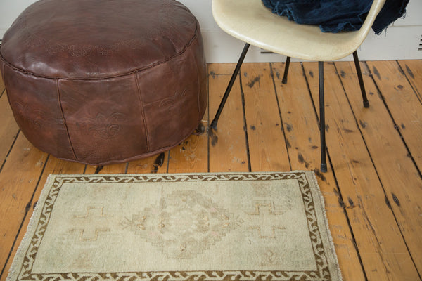 2x3 Vintage Oushak Distressed Rug Mat - Old New House
