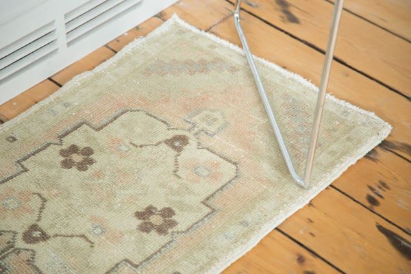 1.5x3 Vintage Oushak Distressed Rug Mat Runner - Old New House