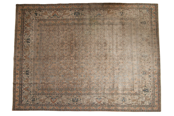 9.5x12.5 Antique Distressed Khorassan Carpet - Old New House