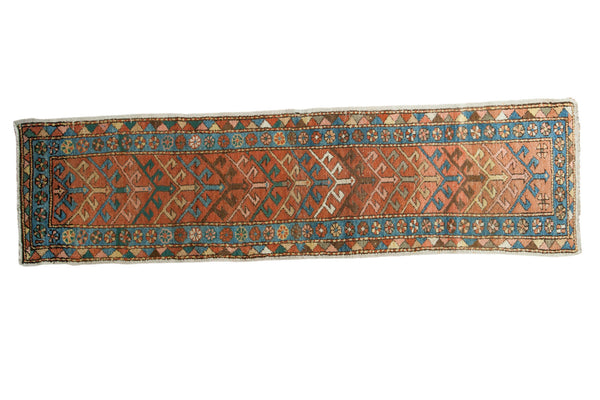 2x8 Antique Heriz Rug Runner - Old New House