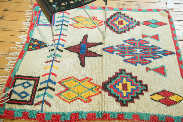 4x4.5 Vintage Moroccan Square Rug - Old New House