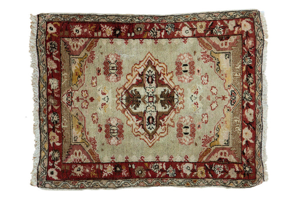 2.5x3.5 Vintage Distressed Oushak Rug - Old New House