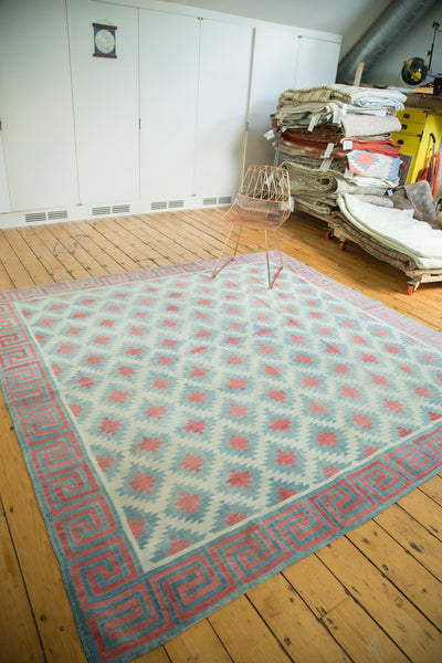 8.5x8.5 Vintage Dhurrie Square Carpet - Old New House