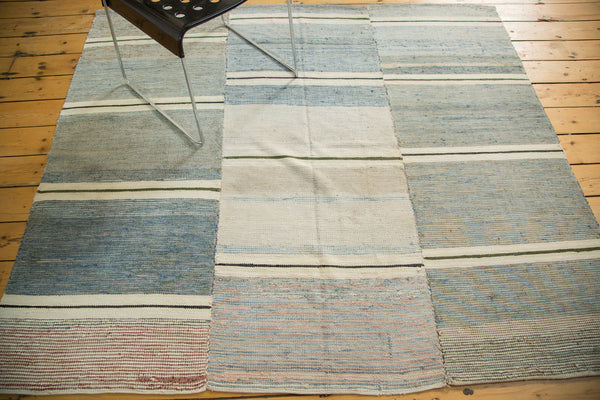5.5x6.5 Vintage Square Rag Rug - Old New House