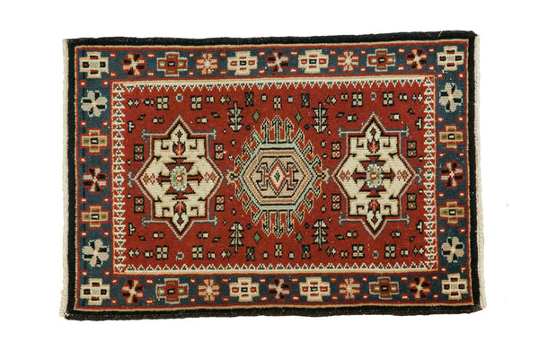 2x2.5 Vintage Persian Style Square Rug Mat - Old New House