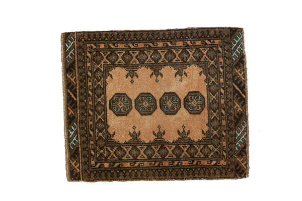2x2 Vintage Afghan Square Rug Mat - Old New House
