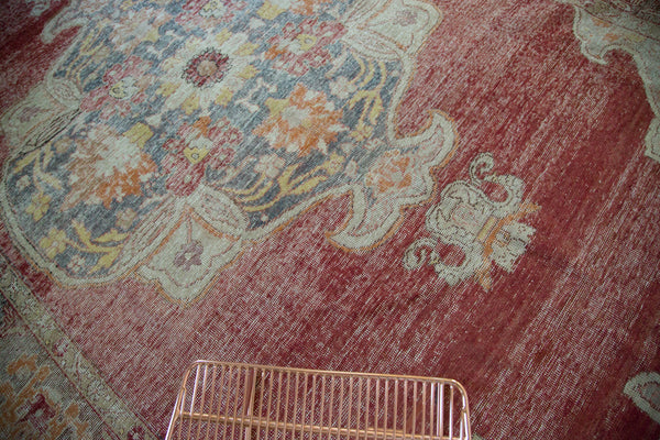 9x14 Vintage Distressed Oushak Carpet - Old New House