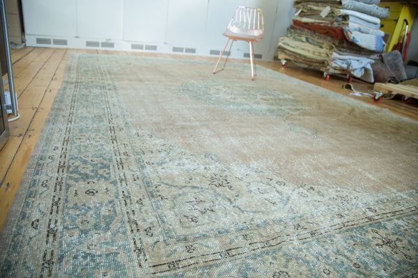 9.5x13 Vintage Distressed Oushak Carpet - Old New House