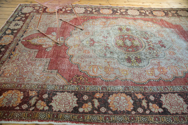 7.5x12.5 Vintage Distressed Oushak Carpet - Old New House