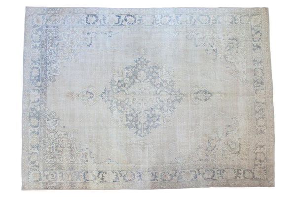 9x12.5 Vintage Distressed Oushak Carpet - Old New House