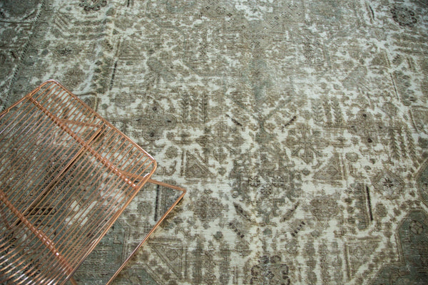 Vintage Distressed Tabriz Carpet / Item ee002387 image 3