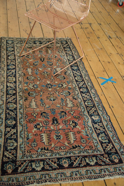 3x6 Antique Heriz Rug Runner - Old New House