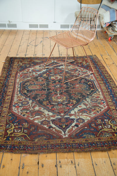 5x6.5 Antique Distressed Qashqai Rug - Old New House