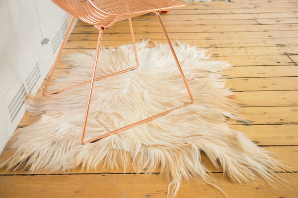 2.5x3.5 New Angora Skin Rug - Old New House