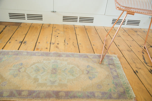 2x3.5 Vintage Distressed Oushak Rug - Old New House