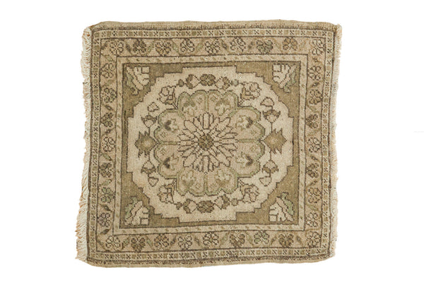 2x2 Vintage Oushak Square Rug Mat - Old New House