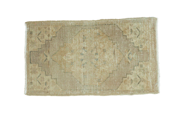 1.5x3 Vintage Distressed Oushak Rug Runner - Old New House