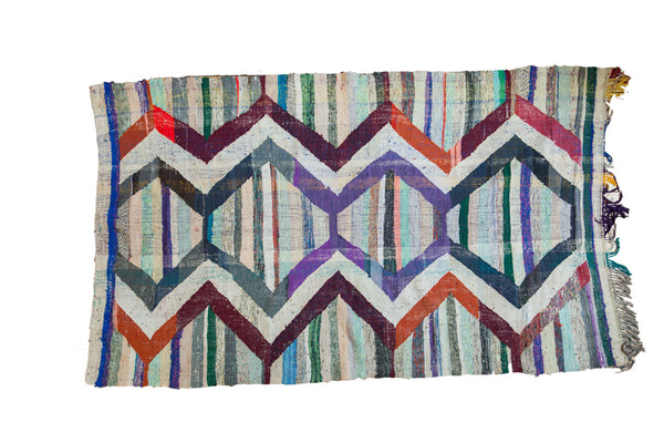 6x10 Vintage Rag Rug Carpet - Old New House