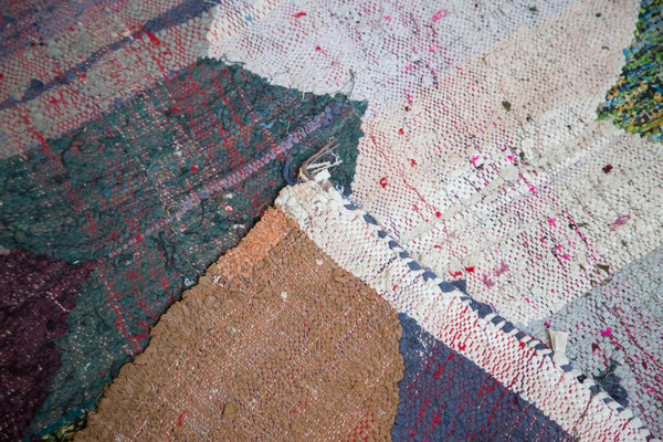 RESERVED 5.5x9 Vintage Rag Rug Carpet - Old New House