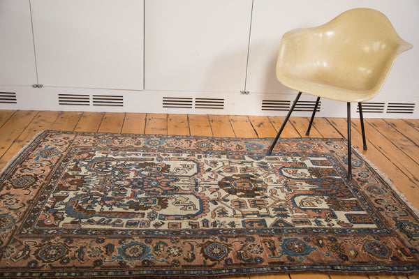 4x6 Vintage Persian Hamadan Rug - Old New House