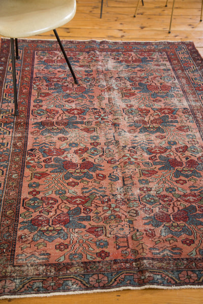 4x6.5 Distressed Antique Persian Lilihan Rug - Old New House