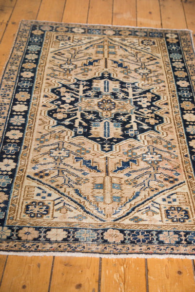 3x5 Vintage Persian Heriz Rug - Old New House